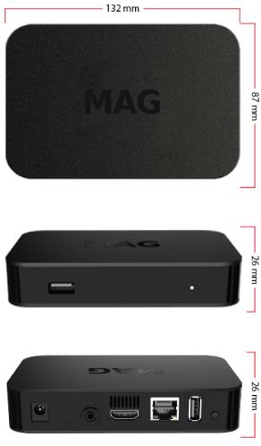 MAG 420 Original Infomir 4K IPTV Set TOP Box MAG420 Reproductor multimedia Internet TV IP Receptor UHD 2160p @ 60FPS HDMI 2.0 HEVC H.265 y H.264 ARM Cortex-A53 enchufe brit/ánico cable HDMI