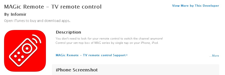 MAGic remote application – available on Google Play and App