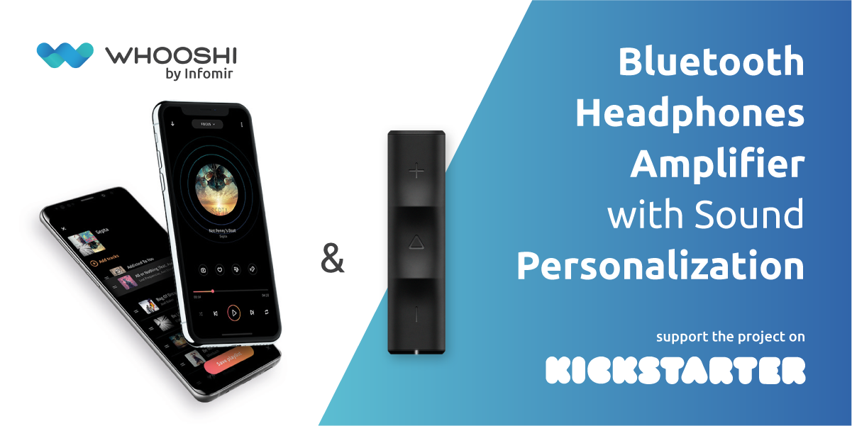 Whooshi Hi-Fi amplifier with sound personalization, a new product by Infomir