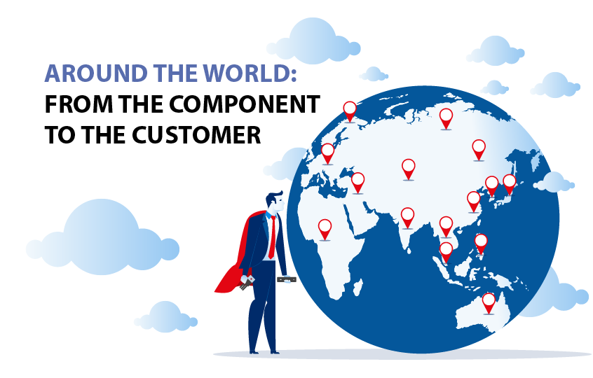 Around The World: From the Component to the Customer