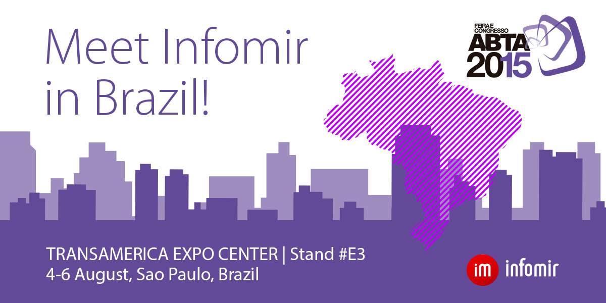 Infomir goes to Brazil! ABTA 2015 is starting soon!