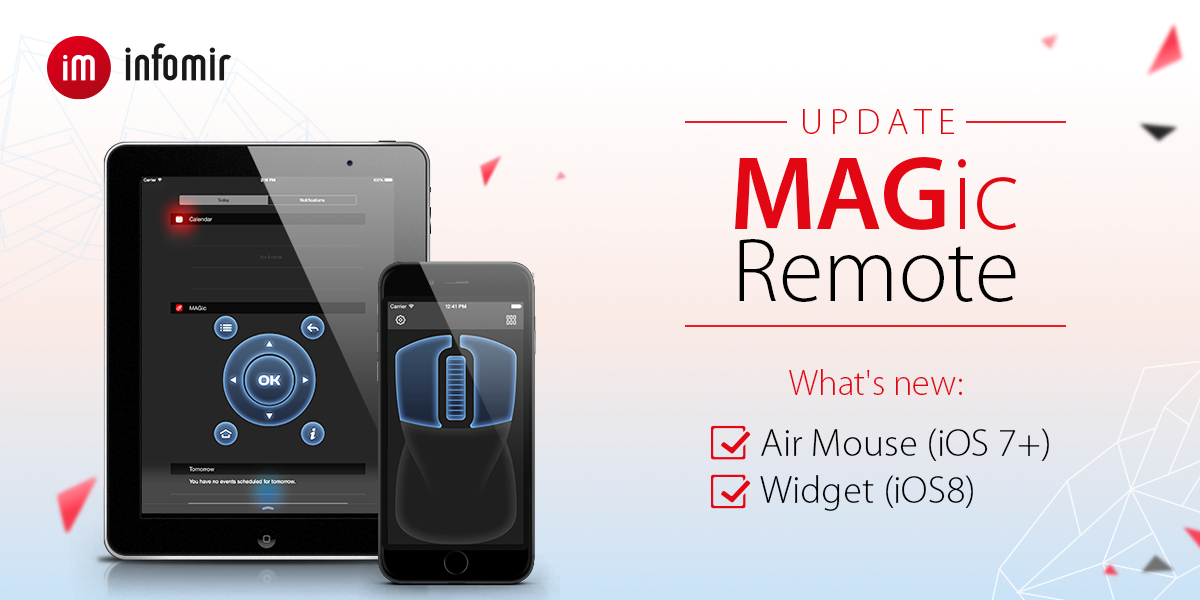 Updated MAGic Remote for iOS: now with Air Mouse and widget!