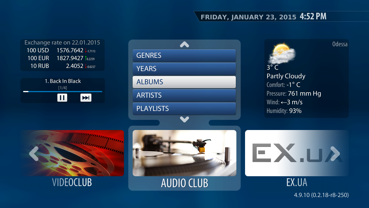 'Audio club' – advanced features for Stalker Middleware